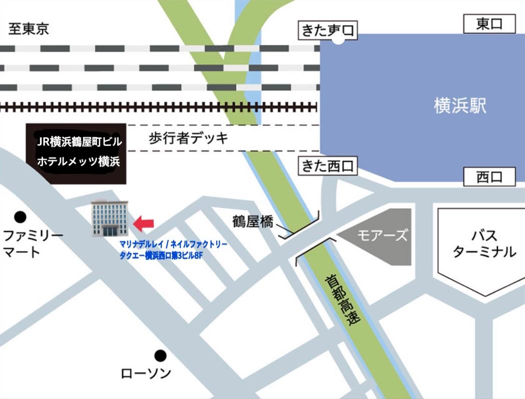 ネイルファクトリー アクセスマップ